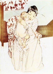 Art Prints of Maternal Caress, Fifth State by Mary Cassatt