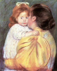 Art Prints of Maternal Kiss by Mary Cassatt