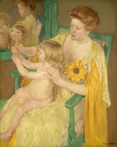 Art Prints of Mother and Child, 1905 by Mary Cassatt