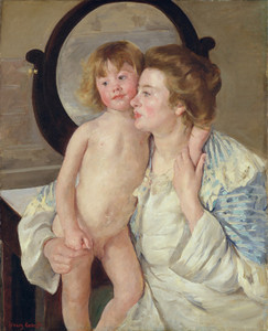 Art Prints of Mother and Child or The Oval Mirror by Mary Cassatt