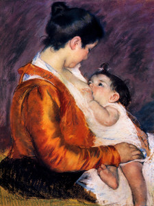Art Prints of Mother Louise Nursing, 1899 by Mary Cassatt