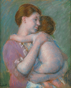 Art Prints of Mother and Nude Child, 1914 by Mary Cassatt