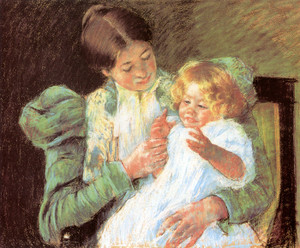 Art Prints of Pattycake by Mary Cassatt
