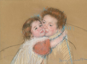 Art Prints of Sketch for Margot Embracing Her Mother by Mary Cassatt
