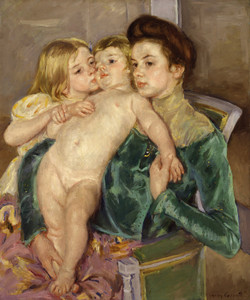 Art Prints of The Caress by Mary Cassatt