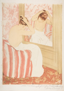 Art Prints of The Coiffure by Mary Cassatt