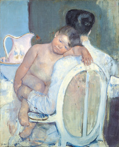 Art Prints of Woman Sitting with a Child in Her Arms by Mary Cassatt