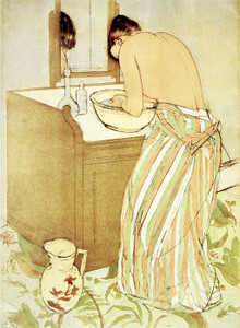 Art Prints of Woman Bathing, Third State by Mary Cassatt