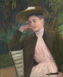 Art Prints of Young Girl with a Brown Hat or Portrait of Celeste by Mary Cassatt