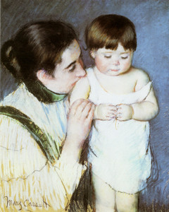 Art Prints of Young Thomas and His Mother by Mary Cassatt