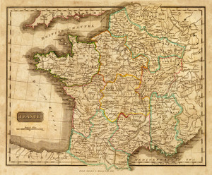 Art Prints of France, 1820 (2682006) by Mathew Carey