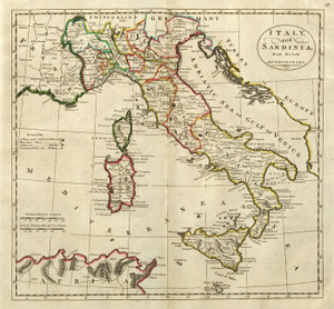 Art Prints of Italy and Sardinia, 1814 (4577048) by Mathew Carey