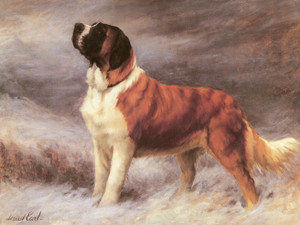 Art Prints of I Hear a Voice, Saint Bernard by Maud Earl