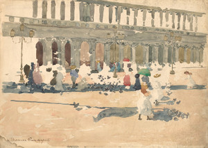 Art Prints of Caffe Florian in Venice by Maurice Prendergast