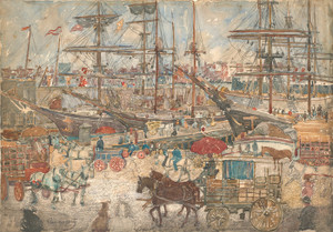 Art Prints of Docks East Boston by Maurice Prendergast