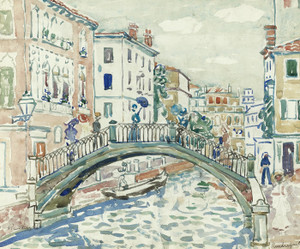 Art Prints of Little Bridge Venice by Maurice Prendergast