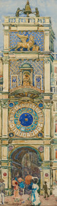 Art Prints of Clock Tower Saint Marks Square Venice by Maurice Prendergast