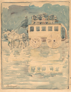 Art Prints of Parisian Omnibus by Maurice Prendergast