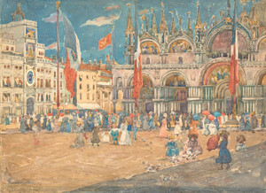 Art Prints of Piazza San Marco by Maurice Prendergast