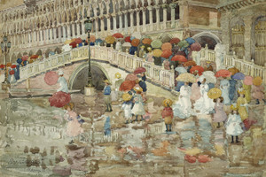 Art Prints of Umbrellas in the Rain by Maurice Prendergast