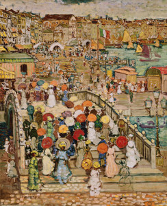 Art Prints of Ponte Della Paglia by Maurice Prendergast