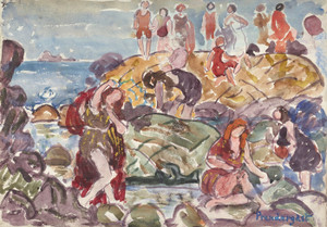 Art Prints of New England Shore by Maurice Prendergast