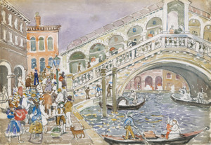 Art Prints of Rialto Bridge by Maurice Prendergast