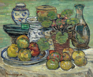 Art Prints of Still Life with Apples by Maurice Prendergast