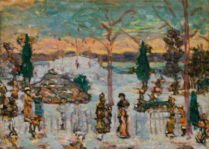 Art Prints of Snow in April by Maurice Prendergast
