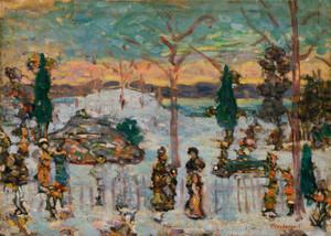 Art Prints of Snow in April by Maurice Prendergast