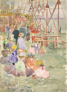 Art Prints of Swings, Revere Beach by Maurice Prendergast