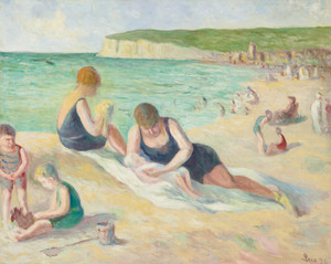 Art Prints of Beach at Mers-Les-Bains by Maximilien Luce