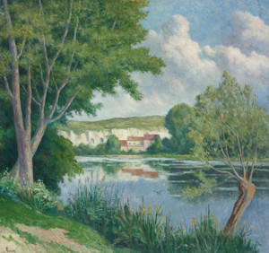 Art Prints of Edge of the Seine by Maximilien Luce