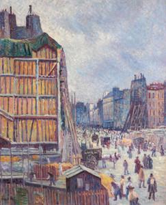 Art Prints of Reaumur Street, Paris by Maximilien Luce