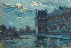 Art Prints of The Flood of 1910, Pavillon de Flore by Maximilien Luce