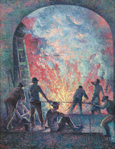 Art Prints of Steel Mill by Maximilien Luce