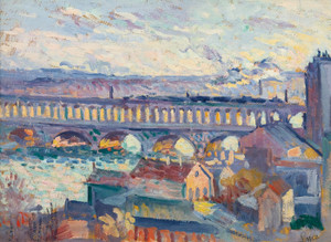 Art Prints of View of the Viaduct Auteuil by Maximilien Luce