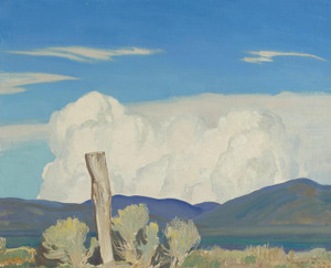 Art Prints of Approaching Thunderstorm by Maynard Dixon