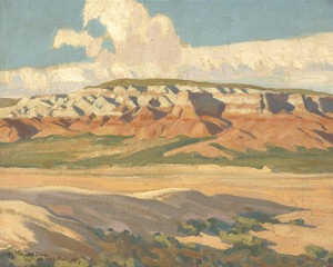 Art Prints of Butte at Red Lake Navajo Reservation, Arizona by Maynard Dixon