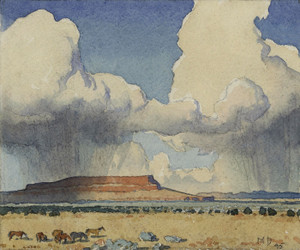 Art Prints of Clouds and Mesa, Arizona by Maynard Dixon