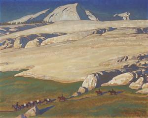 Art Prints of Moraine and Meadow, Sierra Nevada, California by Maynard Dixon