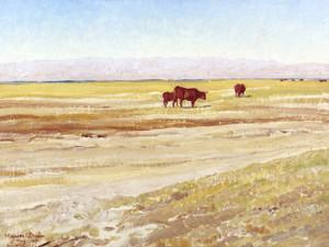 Art Prints of Morning on the San Joaquin Plains by Maynard Dixon