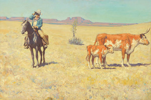Art Prints of The Puzzled Cowboy by Maynard Dixon
