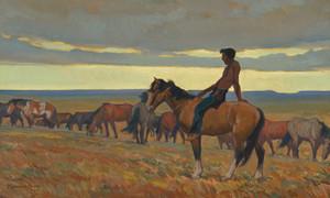 Art Prints of Lone Bull, 1918 by Maynard Dixon