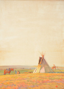 Art Prints of Prairie Evening by Maynard Dixon