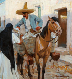 Art Prints of The Milkman, Guadalajara, Mexico by Maynard Dixon