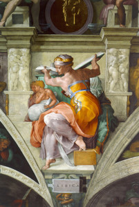 Art Prints of Libyan Sibyl by Michelangelo