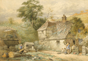 Art Prints of On the Coast near Flamborough, Yorkshire by Myles Birket Foster