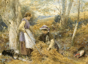 Art Prints of The Bracken Gatherers by Myles Birket Foster