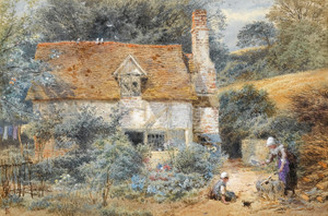 Art Prints of The Cottage by Myles Birket Foster